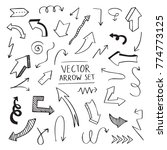 vector doodle arrow set... | Shutterstock .eps vector #774773125