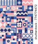 cute geometric pattern. card in ... | Shutterstock .eps vector #774774472