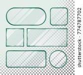 transparent glass buttons.... | Shutterstock . vector #774787702