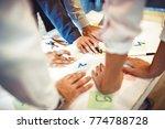 creative business team working... | Shutterstock . vector #774788728