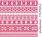 lapland traditional red folk... | Shutterstock .eps vector #774793912