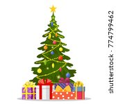 christmas tree and holiday... | Shutterstock .eps vector #774799462