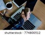 business man shaking hands... | Shutterstock . vector #774800512