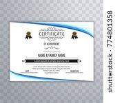 modern certificate background | Shutterstock .eps vector #774801358