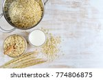 vitamin healthy breakfast oat... | Shutterstock . vector #774806875