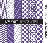 ultra violet retro geometric... | Shutterstock .eps vector #774813586