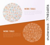work tools concept in circle... | Shutterstock .eps vector #774816856