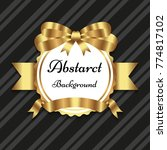 ribbon golden premium... | Shutterstock .eps vector #774817102