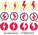 set of electricity sign and... | Shutterstock .eps vector #774822652