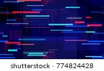 tech seamless texture with... | Shutterstock .eps vector #774824428
