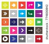set of twenty five white arrows ... | Shutterstock .eps vector #774830842