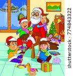 illustration of santa claus... | Shutterstock .eps vector #774843322