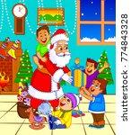 illustration of santa claus... | Shutterstock .eps vector #774843328