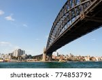 low angle view of the harbour... | Shutterstock . vector #774853792