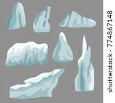 set of ice rocks. elements to...   Shutterstock .eps vector #774867148