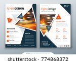 flyer template layout design.... | Shutterstock .eps vector #774868372