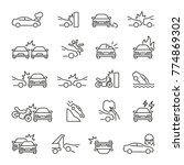 car accident related icons ... | Shutterstock .eps vector #774869302