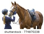 equestrian sportsman with a... | Shutterstock . vector #774870238