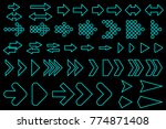 set of silhouettes arrows. | Shutterstock .eps vector #774871408