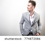 handsome young elegant man in... | Shutterstock . vector #774872086