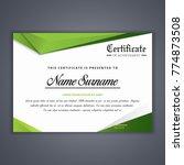 certificate template in vector... | Shutterstock .eps vector #774873508
