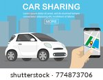 car sharing concept  white car... | Shutterstock .eps vector #774873706