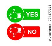 thumb yes and no icon logo   Shutterstock .eps vector #774877318