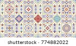 seamless ceramic tile with... | Shutterstock .eps vector #774882022