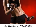 body of a young fit woman... | Shutterstock . vector #77488393