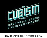 vector of modern geometric font ... | Shutterstock .eps vector #774886672