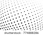 abstract halftone wave dotted... | Shutterstock .eps vector #774888286