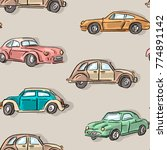 seamless pattern with vintage... | Shutterstock .eps vector #774891142