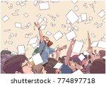 illustration of students...   Shutterstock .eps vector #774897718