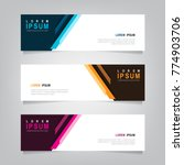 abstract banner design... | Shutterstock .eps vector #774903706