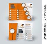 tri fold brochure design.... | Shutterstock .eps vector #774906838