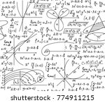 math scientific vector seamless ... | Shutterstock .eps vector #774911215