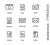 9 document thin line icons | Shutterstock .eps vector #774923515