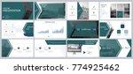 green  blue  elements of... | Shutterstock .eps vector #774925462