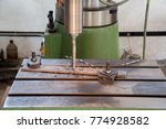 drilling machine in the... | Shutterstock . vector #774928582