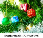 merry chrismas and a happy new... | Shutterstock . vector #774935995