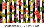 beautiful geometric flowers...   Shutterstock .eps vector #774937135