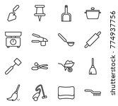 thin line icon set  ... | Shutterstock .eps vector #774937756