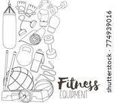 set of fitness accessories ... | Shutterstock .eps vector #774939016