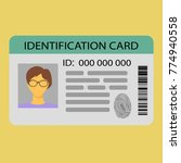 the idea of personal identity. ... | Shutterstock .eps vector #774940558
