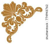 gold vintage baroque ornament... | Shutterstock .eps vector #774943762
