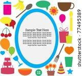 vector party invitation card | Shutterstock .eps vector #77495389