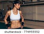 biomechanics lab. female... | Shutterstock . vector #774955552