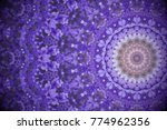 violet wild flowers with... | Shutterstock . vector #774962356