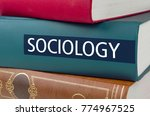 a book with the title sociology ... | Shutterstock . vector #774967525