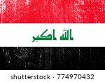 grunge styled flag of iraq | Shutterstock .eps vector #774970432